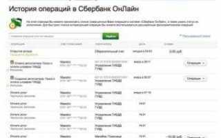 Как посмотреть операции по карте в сбербанке онлайн